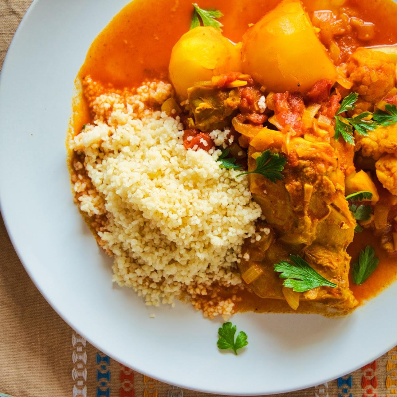 チュニジア風クスクス|野菜たっぷり、アフリカのスパイシーなトマト煮込み