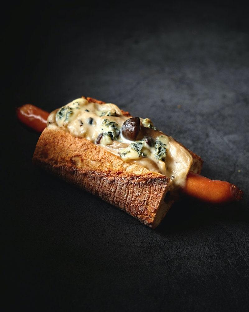 ブルーチーズのグラタンドッグ